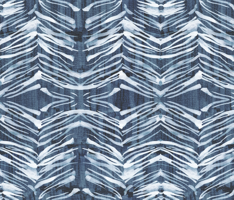 Zebra Ink Denim fabric by schatzibrown on Spoonflower - custom fabric