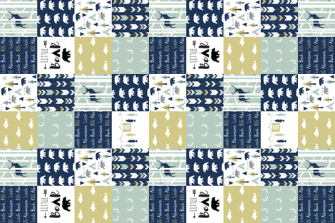 Glacier Lake Cheater Quilt (rotated) fabric by buckwoodsdesignco on Spoonflower - custom fabric