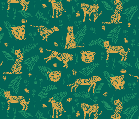 Cheetahs and Riches fabric by chris_jorge on Spoonflower - custom fabric