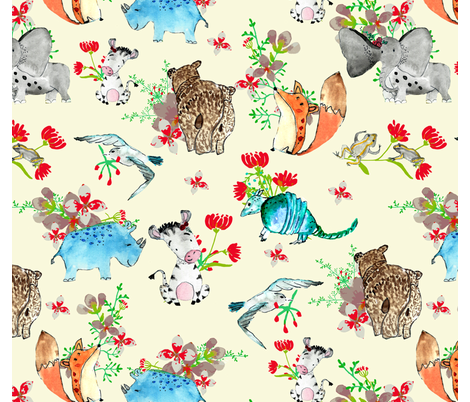 Cannot-imagine-the-world-without-them fabric by sheebachandini on Spoonflower - custom fabric