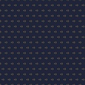 Anchor Navy  Gold  - Vertical (small)