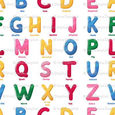 zoo alphabet pattern