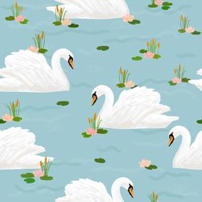Swan (blue)