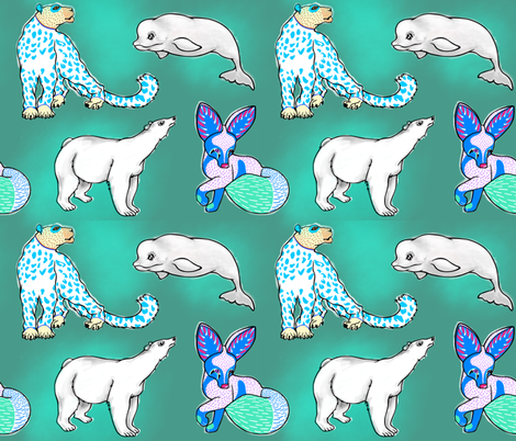 Endangered And So Beautiful fabric by appaloosa_designs on Spoonflower - custom fabric