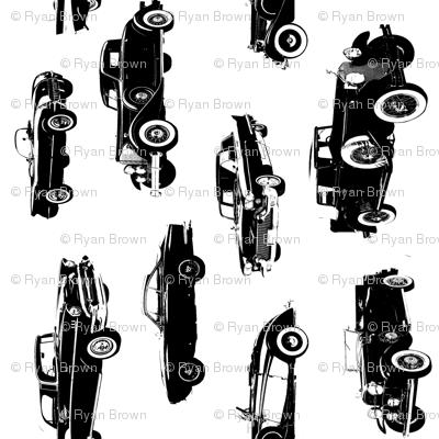 """Vintage Cars  - Vertical // Large (4"""")"""