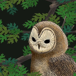 Woodland Owl (dark green)