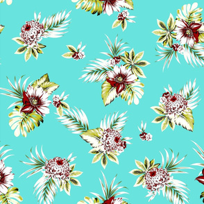 Alana Floral - Lagoon