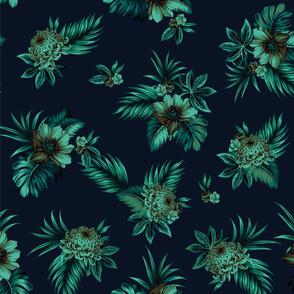 Alana Floral - Navy