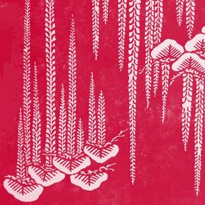 Japenese Stencils in Vintage Raspberry
