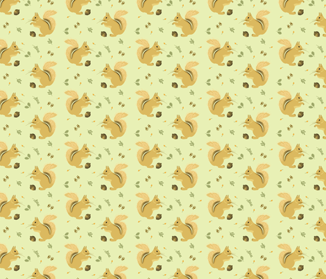 Squirrel fabric by noelia_baltrons on Spoonflower - custom fabric