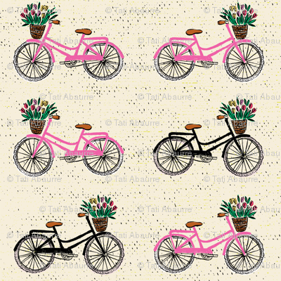 Sweet cycling beige pink