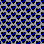 Thin Blue Line Hearts Sash