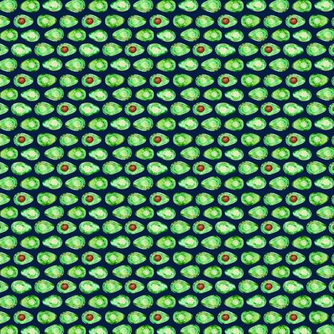 (micro print) avocado on navy (90) C18BS fabric by littlearrowdesign on Spoonflower - custom fabric