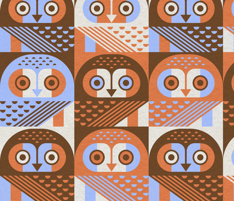 elf owls fabric by jevaart on Spoonflower - custom fabric