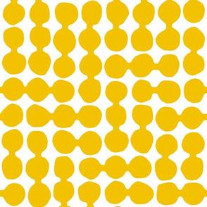 Sea-worn Pebbles, sunshine yellow