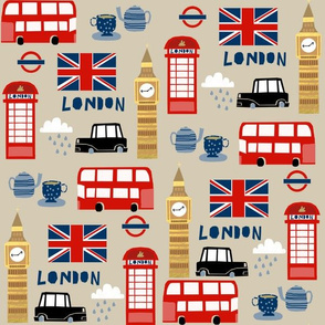 london england fabric world cities tan