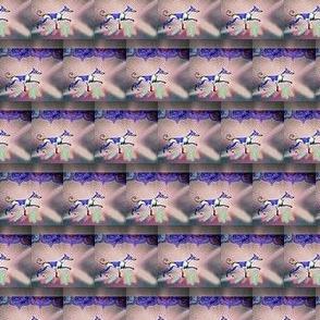Rainbow Hound Step out skyward-martingale -Small