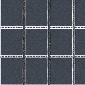 Dotted Window Pane  |  Navy