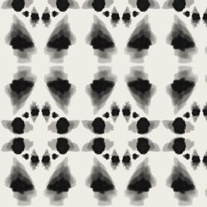 tie dye inspired-black  ivory
