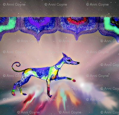 Rainbow Hound Step out skyward-bigger -For cushions-