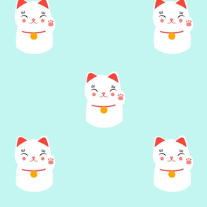 Lucky happy Japanese cat pattern