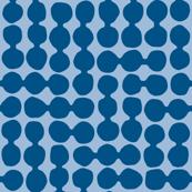 Sea-worn Pebbles, blue denim