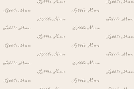 Little man - brown on tan - duck coordinate fabric by moonsheets on Spoonflower - custom fabric