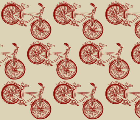 B is For Bicycle fabric by edsel2084 on Spoonflower - custom fabric