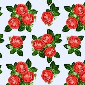 """4"""" Red Roses - Blue"""