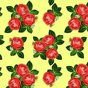 """4"""" Red Roses - Yellow"""