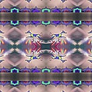 Rainbow Hound Step out skyward-martingale For collars