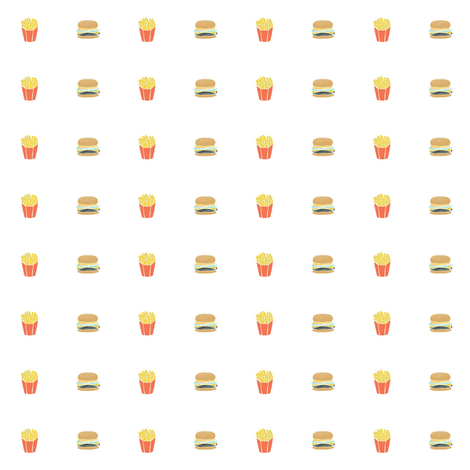 button fries  fabric by andrea_lauren on Spoonflower - custom fabric