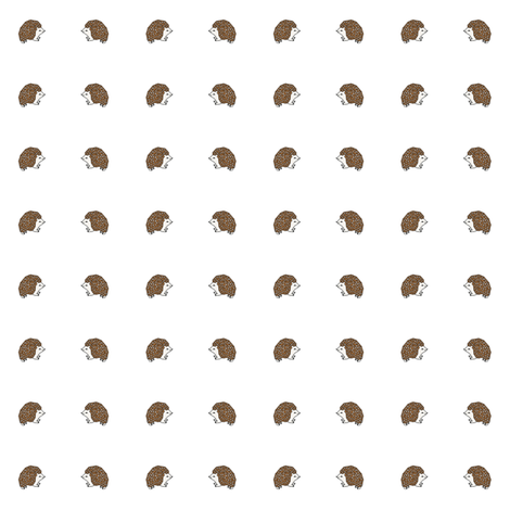 button hedgehog fabric by andrea_lauren on Spoonflower - custom fabric