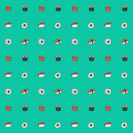 button sushi fabric by andrea_lauren on Spoonflower - custom fabric