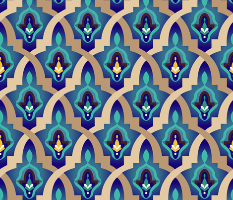 Morocco fabric by diseminger on Spoonflower - custom fabric