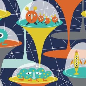 Alien Incubators - Dark Navy & Orange