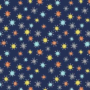 cosmic stars - Dark Navy