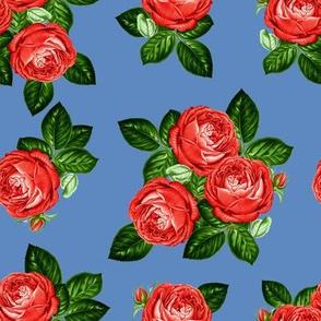 "8"" Red Roses - Dark Blue"