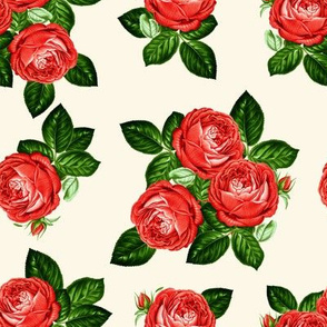 """8"""" Red Roses - Ivory"""