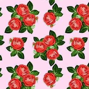 """4"""" Red Roses - Pink"""