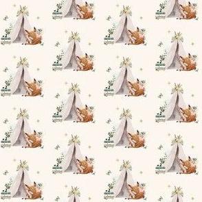"1.5"" Botanical Boho Deer - Ivory"
