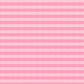 Wavy Stripe in Flamingo