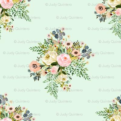 "4"" Botanical Boho Florals - Mint Green"