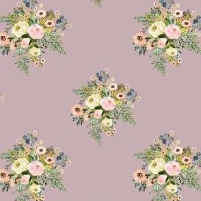 """4"""" Botanical Boho Florals - Mauve"""