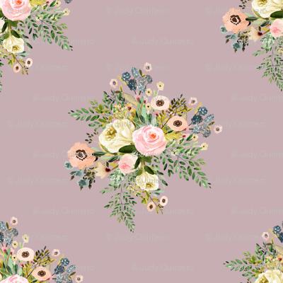 """8"""" Botanical Boho Florals - Mauve"""