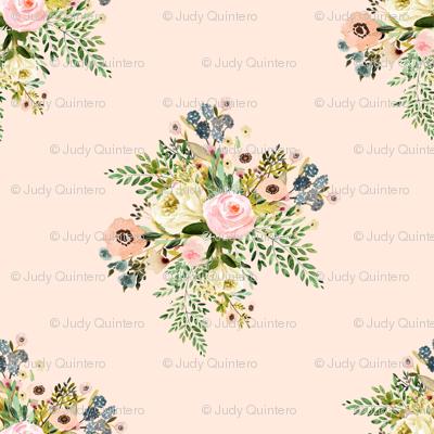 """8"""" Botanical Boho Florals - Peach"""