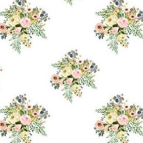 "4"" Botanical Boho Florals - White"