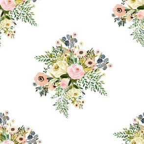 "8"" Botanical Boho Florals - White"