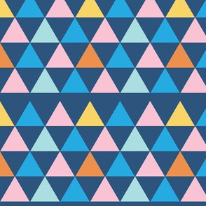 Triangles - Blue Background