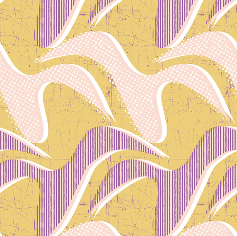 shapes mustard fabric by susiprint on Spoonflower - custom fabric